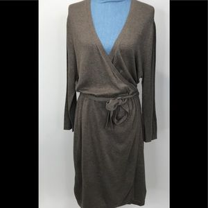 Banana Republic Belted Wrap Dress Brown XL